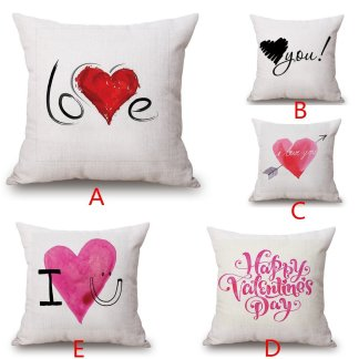 Love Heart Valentine Pillow Case Cover