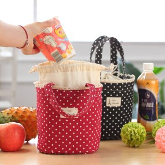 Drawstring Thermal Insulated Lunch Box Cooler Bag Pouch