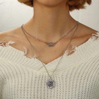 Long Multi Layers Statement Women Fashion Jewelry Necklace
