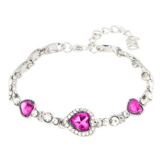 Love Heart Crystal Rhinestone Women Fashion Jewelry Bracelet