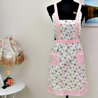 Women Restaurant Home Kitchen Pocket Cooking Cotton Apron