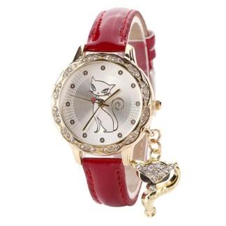 Luxury Diamond Analog Leather Women Quartz Wrist Watches