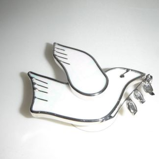 Stained Glass Peace Dove Window Suction Cup