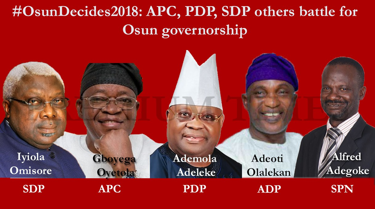 #OsunDecides2018: Name Of Political And Candidates