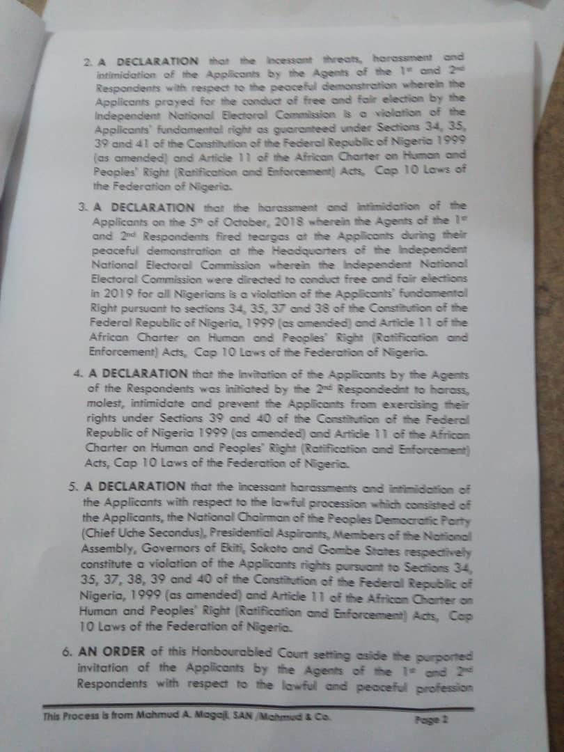Breaking: Melaye, Saraki, Ben Bruce Sue IGP For Infringement, Demand N500m