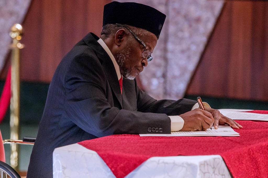 Acting CJN Mohammed Swears In 250 Election Tribunal Members