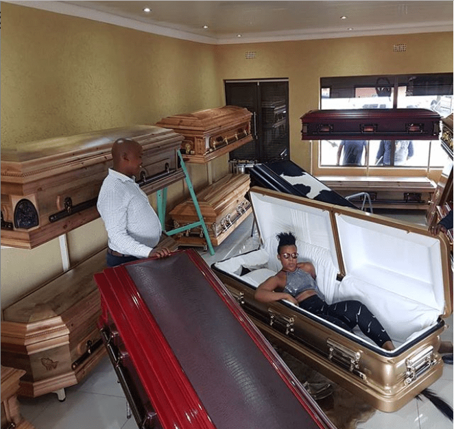 South Africa 'Pant Less Dancer' Wabantu Buys Coffin Ahead Of Death