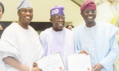 Sanwo-Olu, Hamzat Receive Certificate Of Return (Photos)