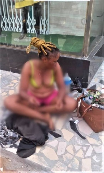 Slay Queen Strips Naked In Lagos State, See Why (Photo)