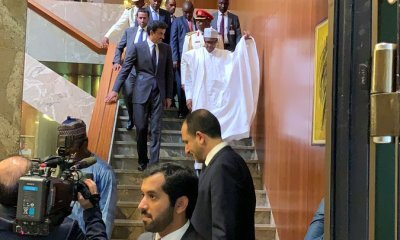 The Emir of Qatar, Tamim Bin Hamad Al Thani, who is currently on tour of some African countries, including Nigeria has arrived state house in Abuja today.