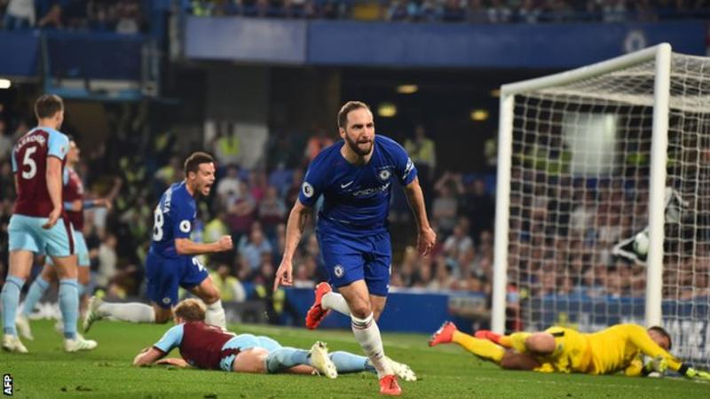 Chelsea moved above Arsenal into the fourth position in the Premier League as they were held by Burnley in a thrilling game at Stamford Bridge.
