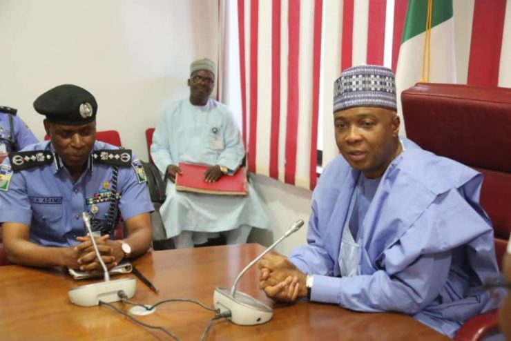 Just In: Saraki Meets IGP Mohammed Adamu (Photos)