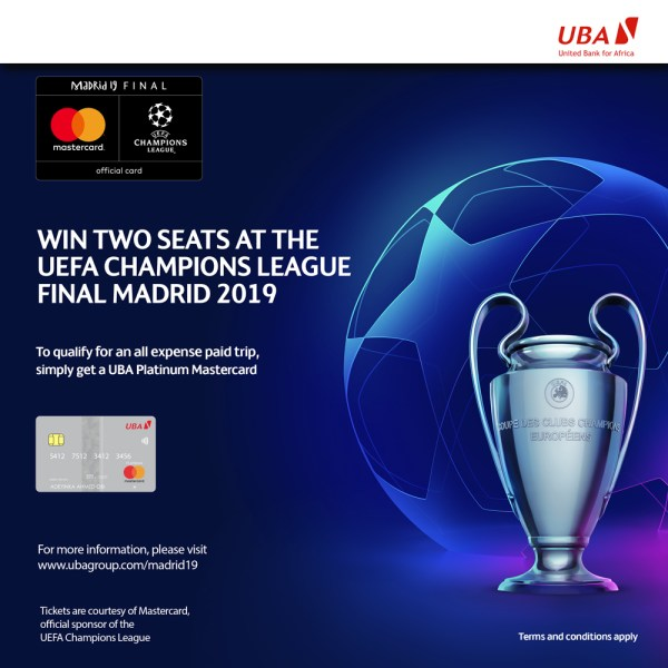 UBA, Matercard Reward Customers With All-Expense Paid Trip To UEFA Champions League