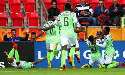 Nigeria's Flying Eagles on Thursday advanced to the knockout stage of the ongoing FIFA Under-20 World Cup in Poland, in a miraculous way in spite playing 1-1 draw with Ukraine in the last Group D encounter.