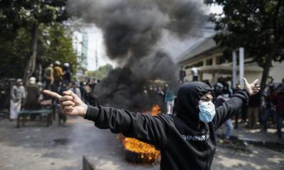 At least six people were dead and 200 were injured as protests by supporters of a failed presidential candidate turned violent Wednesday in the Indonesian capital, authorities said.