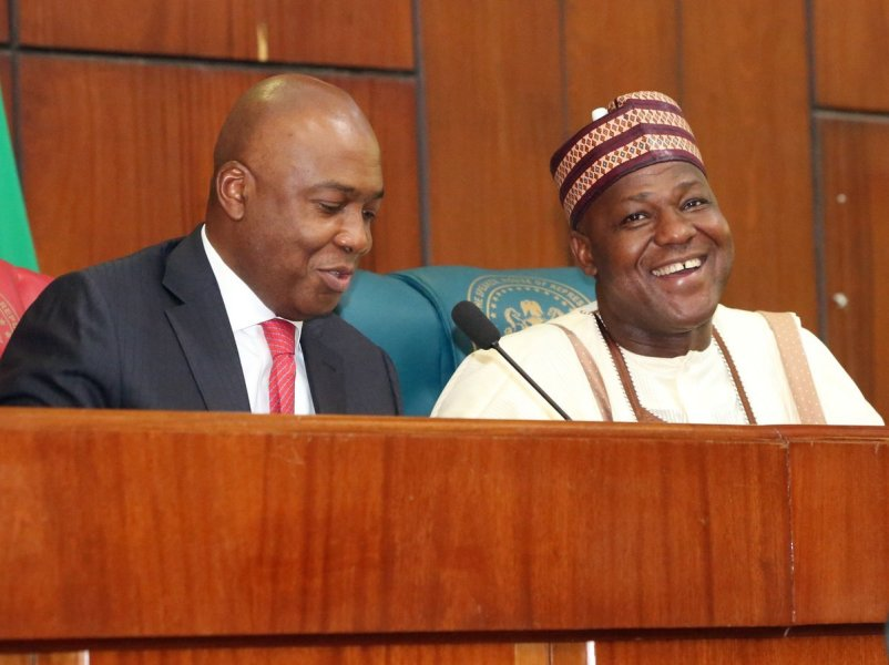 The Abuja division of the Federal High Court on Friday struck out a suit seeking an order to declare vacant the seats Senate President Bukola Saraki and House Speaker, Yakubu Dogara.