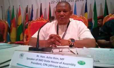 Twenty-one lawmakers of the Imo State House of Assembly has suspended the Speaker, Acho Ihim.