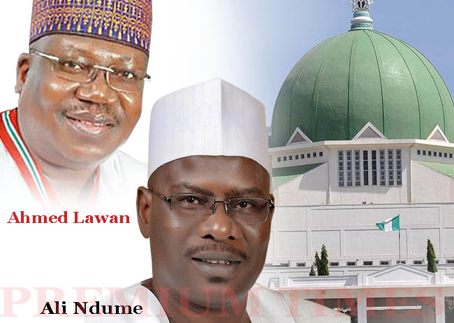 At least 64 Nigerian Senate has voted in Ahmed Lawani for the post of Senate President with fewer votes for Ndume.