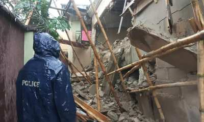 A story building under construction has collapsed in Kayode Aluko Olokun Close, Shangisha, Magodo.