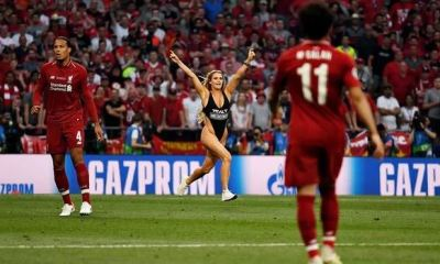 22 Year Old Russian social media lady Kinsey Wolanski who ran onto the field almost naked during Saturday's UEFA Champions League final in Madrid between Liverpool and Tottenham Hotspur has confessed why she caused such commotion on the pitch with millions of people watching.