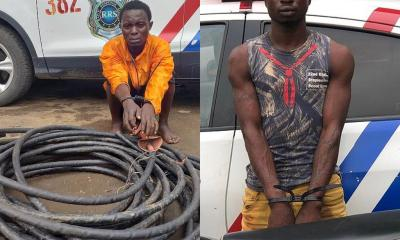 An armed robber operating with 'okada' in Ikorodu, Lagos State and a cable thief were on early Thursday morning arrested separately by the officials of the Lagos State Rapid Response Squad (RRS) in different parts of the state.