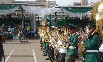 President Muhammadu Buhari has arrived at the Eagles Square venue of the Democracy Day celebration.