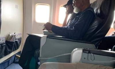 Wole Soyinka's eldest son, Olaokun has reacted to the saga between his father and youth on a plane which caused lots of reactions from Nigerians earlier in the week.