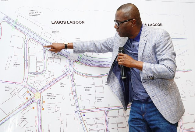 The Lagos State Governor, Mr Babajide Sanwo-Olu alongside his cabinet members on Wednesday attended a stakeholders meeting aimed at the proposed regeneration of Lekki-oniru axis, victoria island, Lagos.