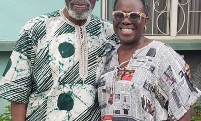 Joke Silva Celebrates Husband, Olu Jacobs At 77