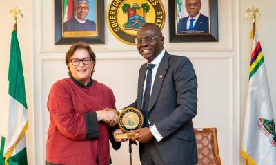 Lagos State Governor, Mr. Babajide Sanwo-Olu on Wednesday Received U.S. Consul General, Ms Claire Pierangelo at Lagos House, Ikeja.