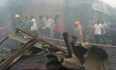 Fire Razes Popular Katangowa Market In Lagos