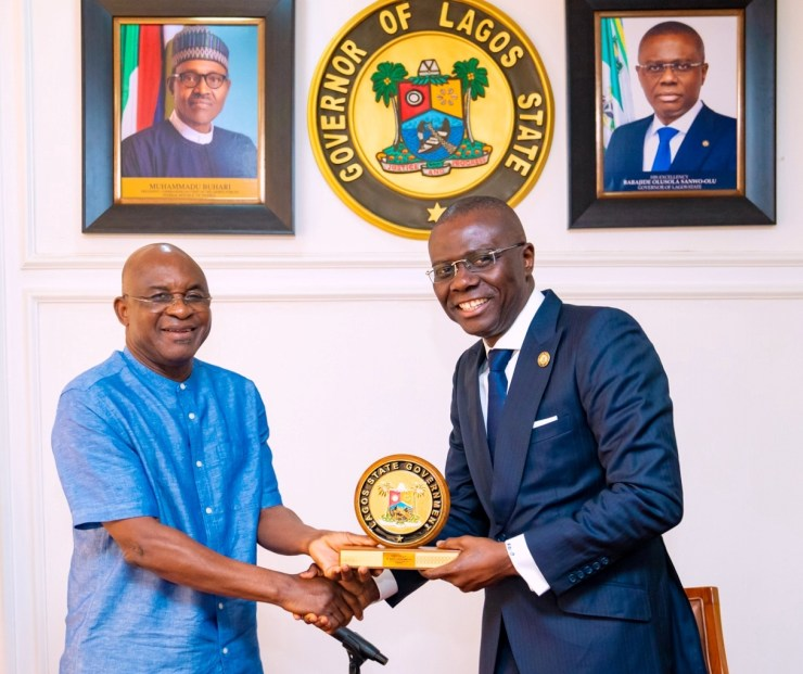 Sanwo-Olu, First Lady Receive Alumni Association Of The Third Regular Course Of Nigeria Defence Academy And Their Wives