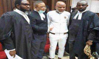 Pictures of Nnamdi Kanu In Court