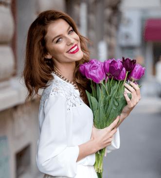 woman receiving