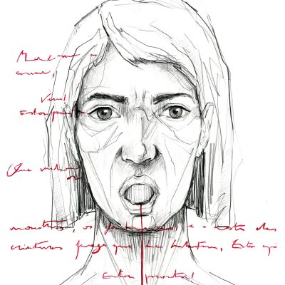 Demeter  |  Graphite and watercolour on paper  | 29.7 x 42 cm  | 2021
