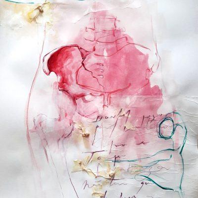 Entranhas I  | Mixed media on paper  |  42 x 59 cm | 2020