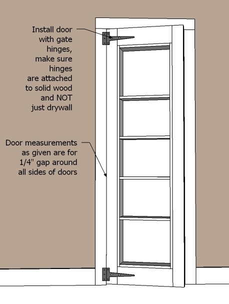 diy bookcase door plans