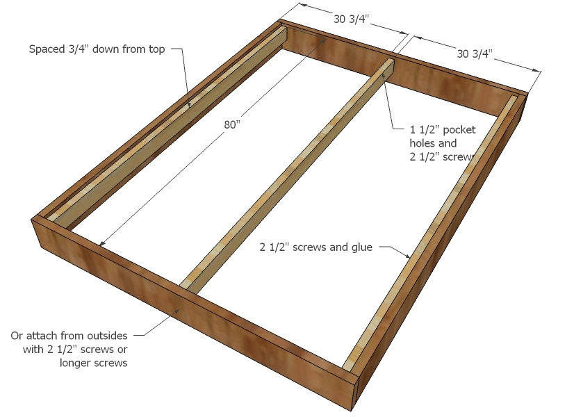 queen size bed plan project