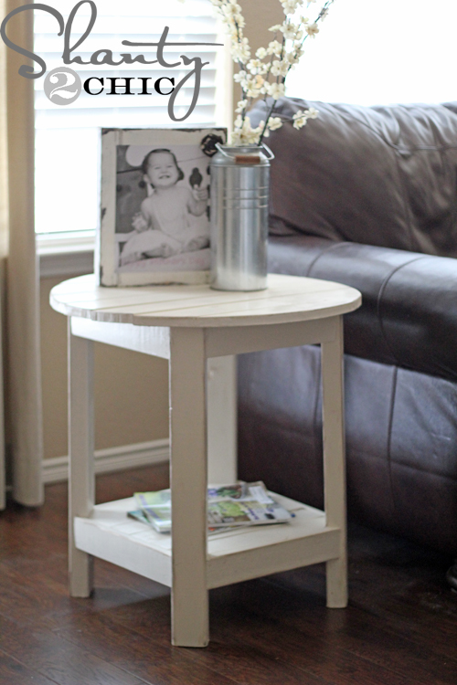 benchright round end tables ana white