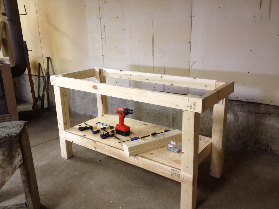 Build Diy Build Easy Workbench Popular Mechanics Pdf Plans