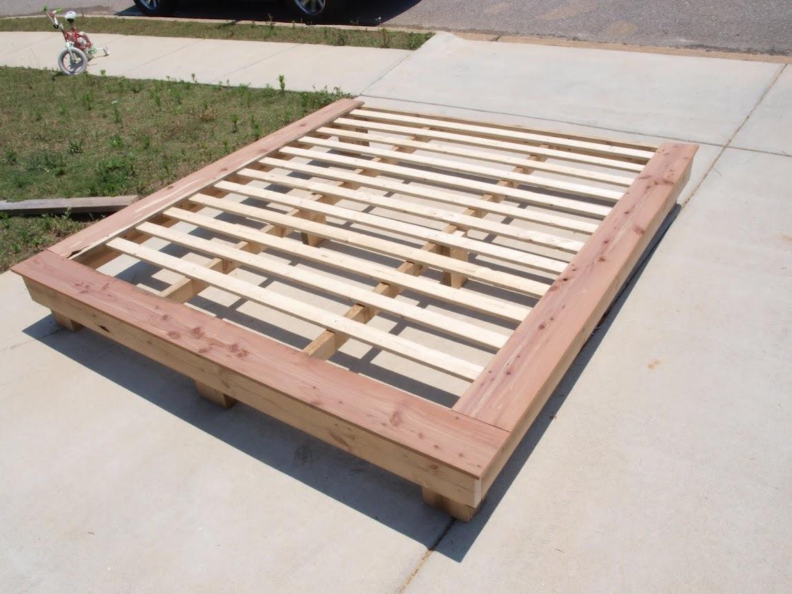 wooden platform bed frames plans