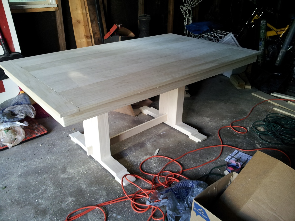 How To Build A Trestle Table Simple Diy Woodworking