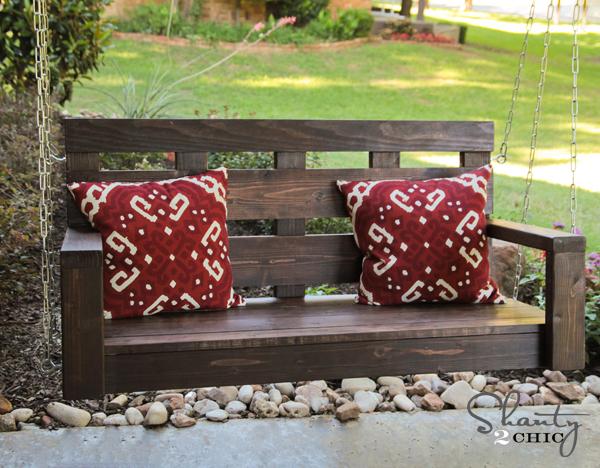 Pdf plans free log porch swing plans download park bench for Log swing plans