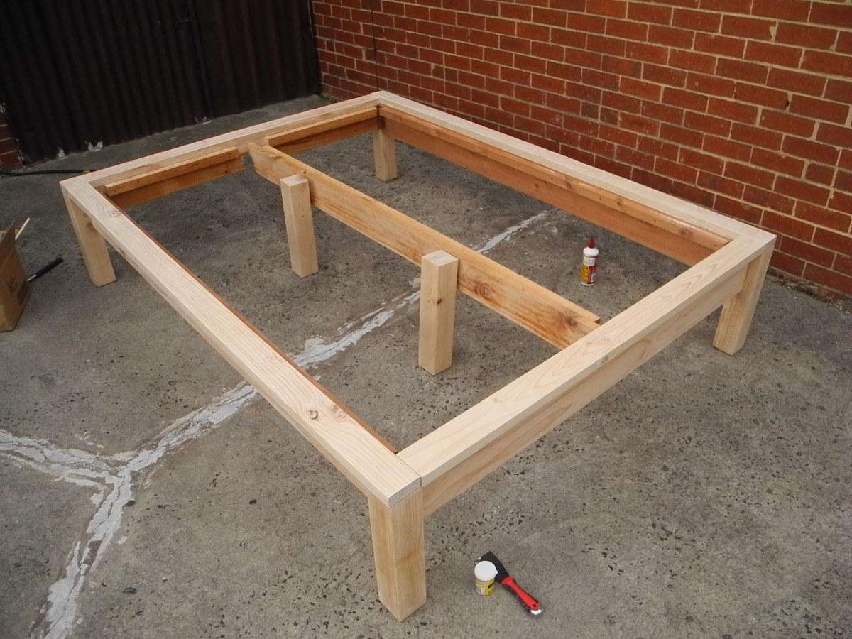 Build Wood Platform Diy Blueprint Plans Download Wood