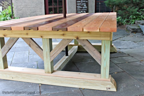 Double Trestle Outdoor Table - DIY Projects