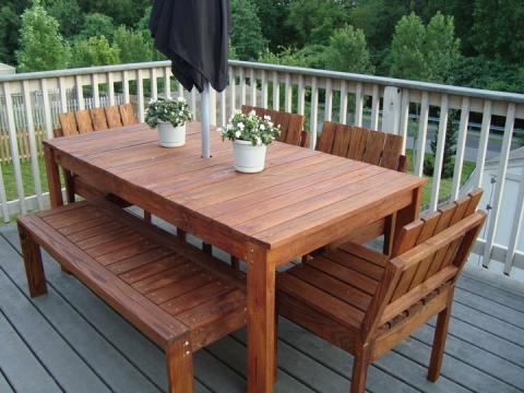 outdoor table design plans