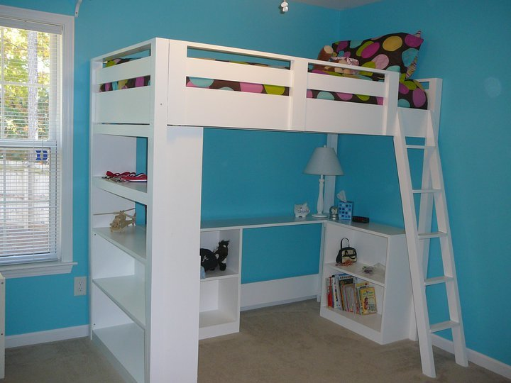 full size loft bed plans with desk