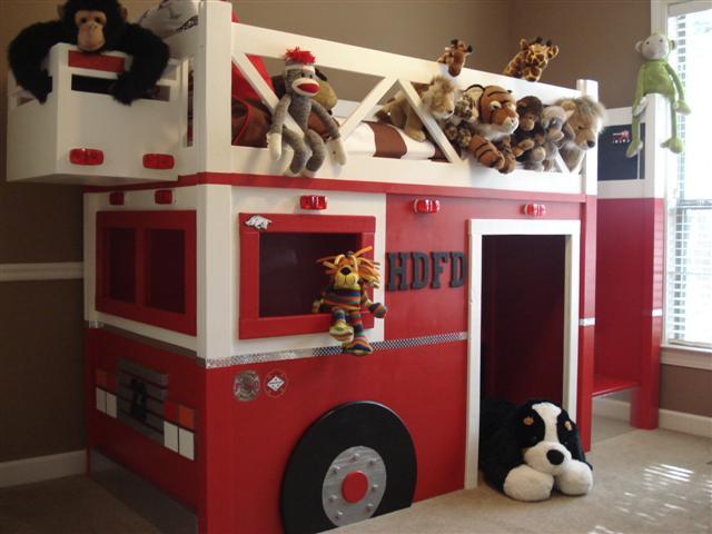 fire truck loft playhouses