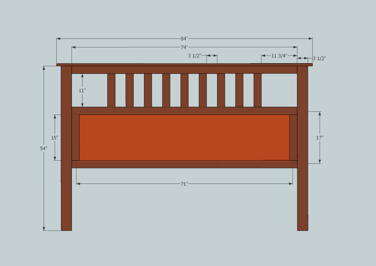 Headboard plans woodworker magazine for Headboard patterns