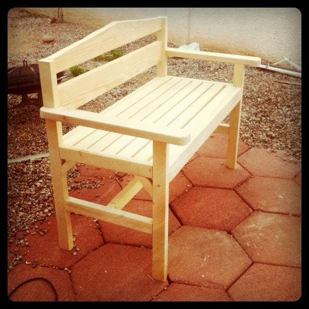 plans outdoor bench seat